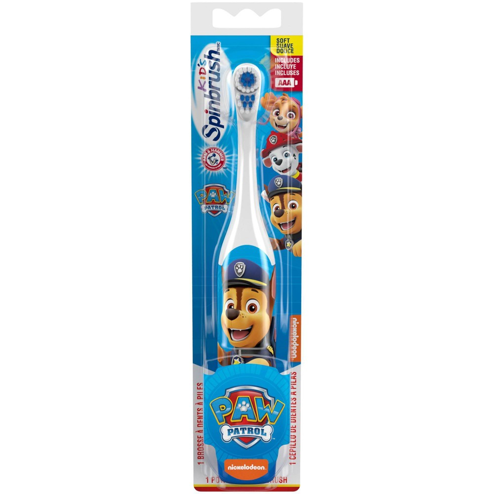 Image of Arm & Hammer Spinbrush Kids Paw Patrol Battery Toothbrush - Colors may vary