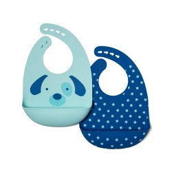 Silicone Bib with Decal - Cloud Island™ Dogs/Dots