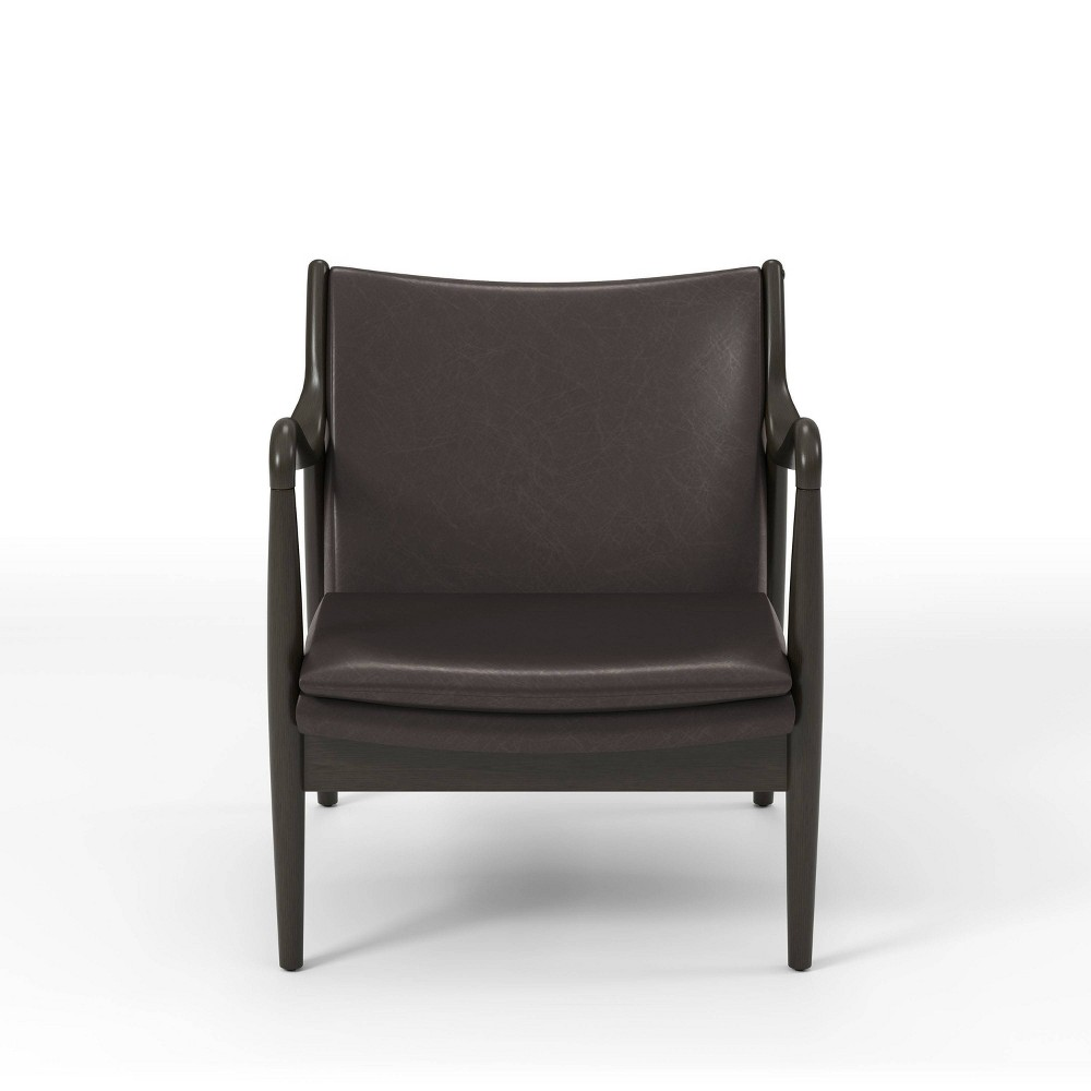 Best Kelowna Curved Arms Accent Chair  - miBasics