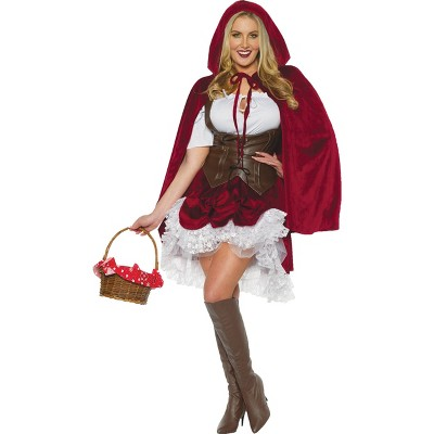 Adult Red Riding Hood Deluxe Halloween Costume