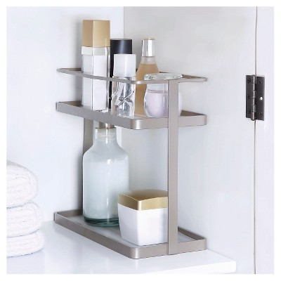 Ordinaire Double Level Under Vanity Storage Rack Champagne   88 Main : Target