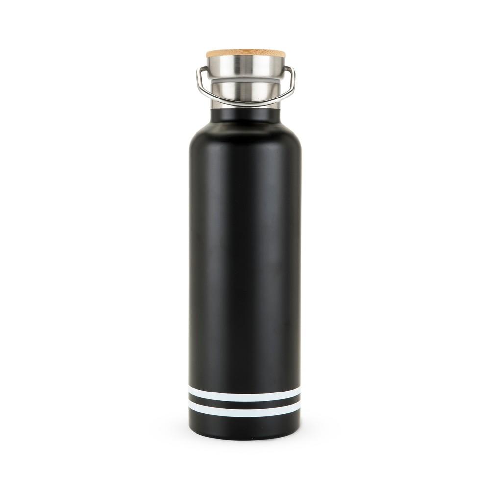 true 25oz Double Walled - Stainless Steel - Portable Water Bottle - Black