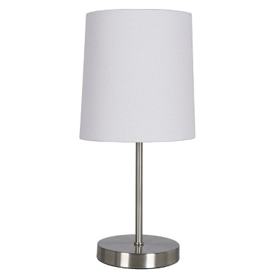Nickel Stick Table Lamp Brushed Nickel (Includes Energy Efficient Light Bulb)- Threshold™