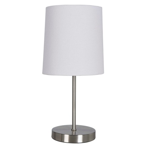 Nickel Stick Table Lamp Brushed Only Threshold