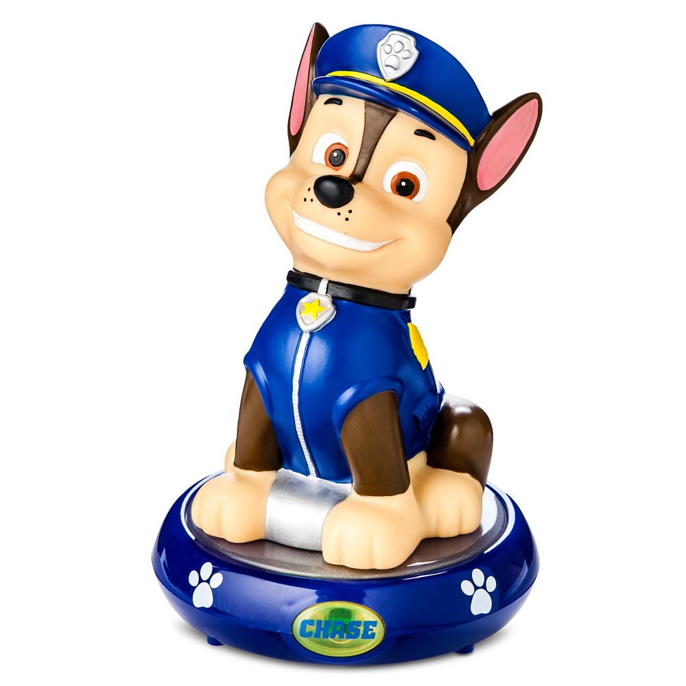 Nickelodeon Paw Patrol Chase Figural Night Light, Multi-Colored