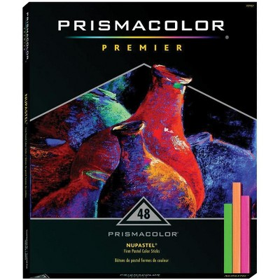 Prismacolor NuPastel Artists Pastel Stick, 3-5/8 x 1/4 in, Assorted Color, set of 48