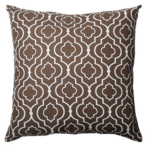 """Chocolate Donetta Oversized Throw Pillow 24.5""""x24.5"""" - Pillow Perfect® - image 1 of 1"""