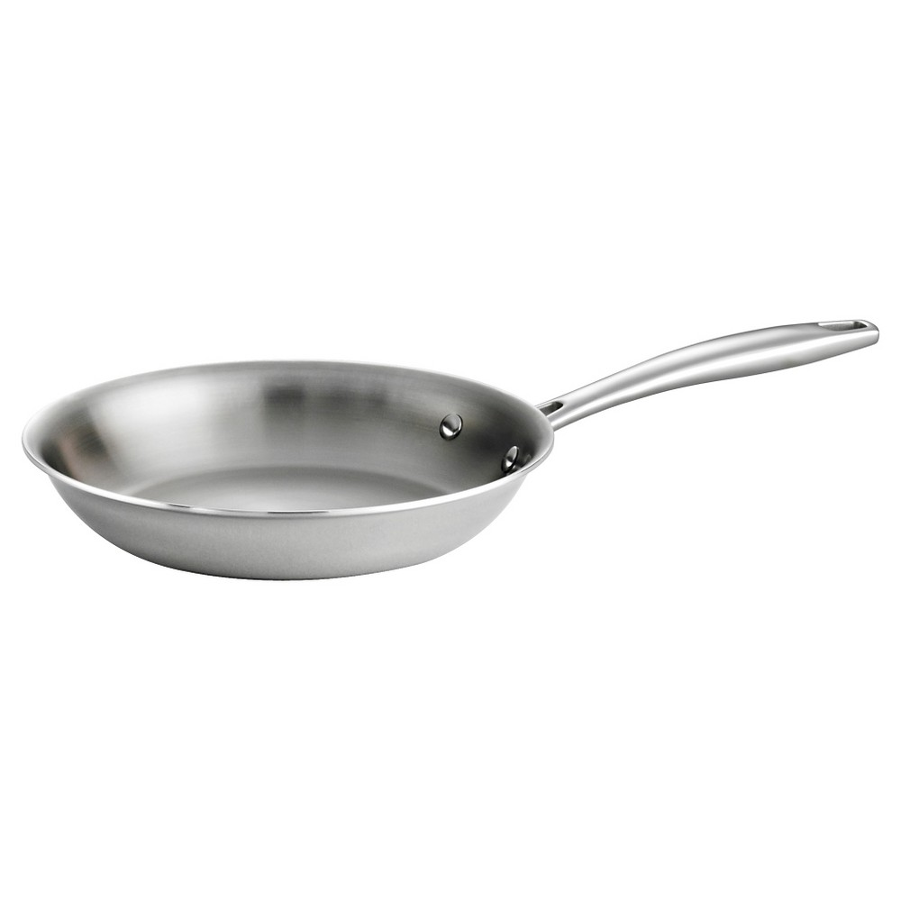 Tramontina Gourmet 10 in. Tri-Ply Clad Induction Ready Stainless Steel Fry Pan, Silver