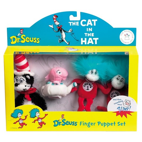 7601fad3 Manhattan Toy Dr. Seuss Cat In The Hat Finger Puppet Boxed Set : Target