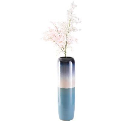 "Uniquewise 31.5"" Tricolor Blue Tricolor Hand Painted Ceramic Handmade Floor Vase"