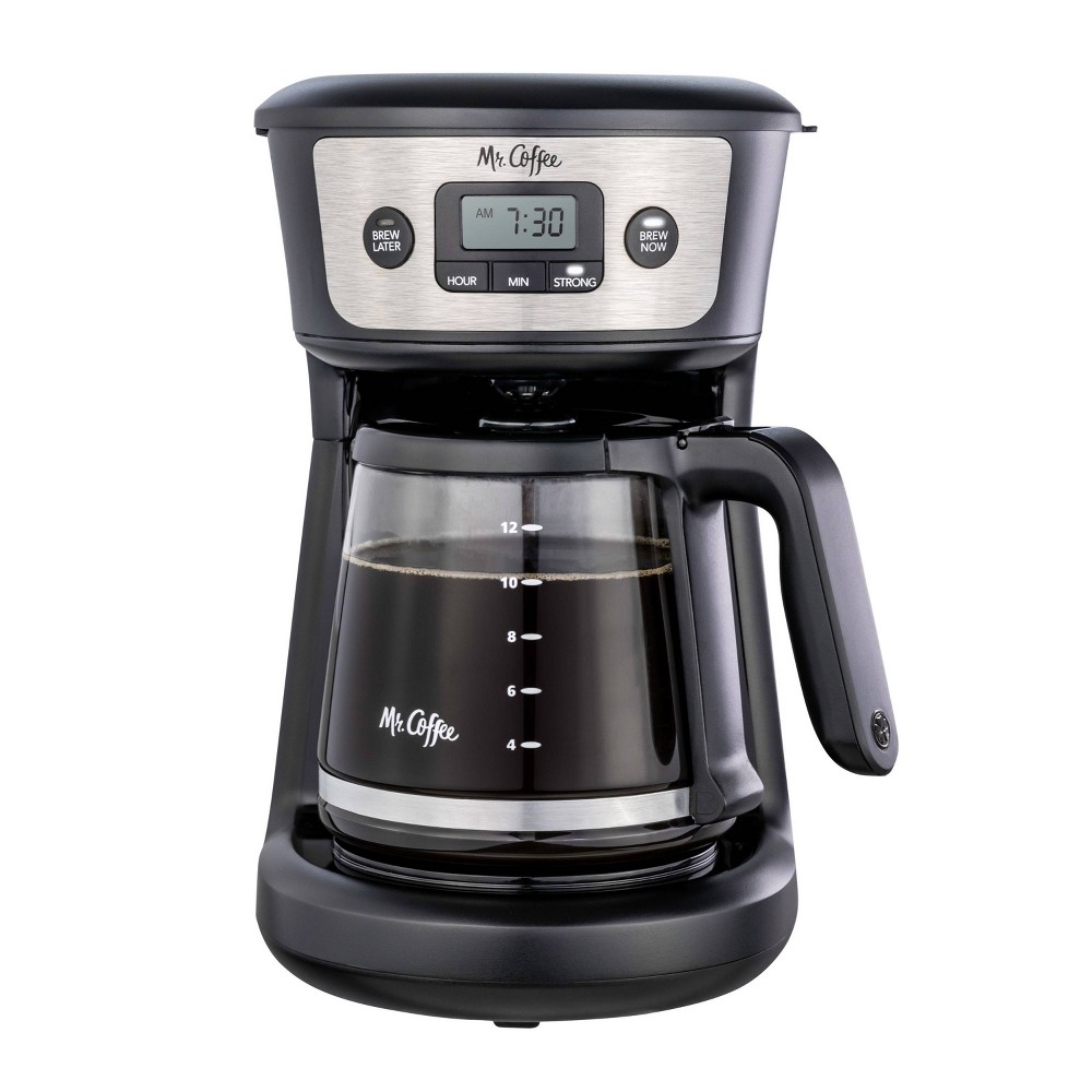 Mr Coffee 12 Cup Programmable Coffee Maker Black