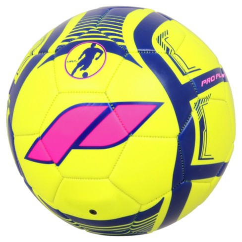 Pro Player Size 3 Soccer ball - Yellow/Pink - image 1 of 2