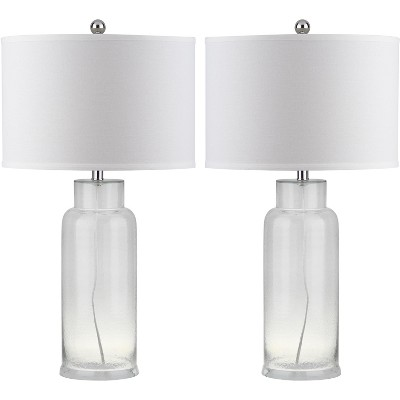 Table Lamp - Clear/White (Set of 2)- Safavieh®
