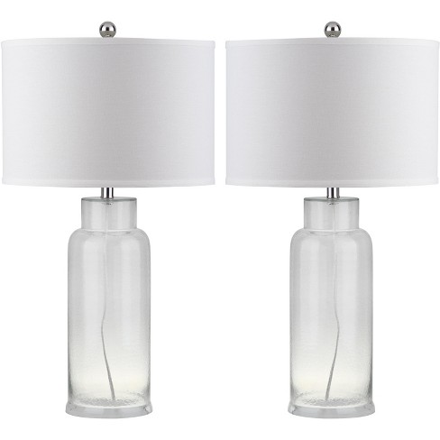 Table Lamp - Clear/White (Set of 2) - Safavieh® - image 1 of 5