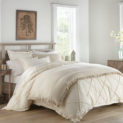 Stone Cottage Thea Natural Duvet Cover Set, Twin