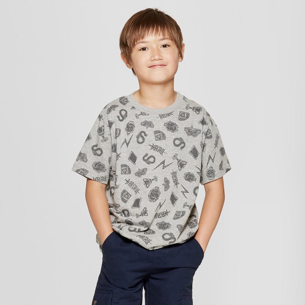 Boys' Harry Potter Short Sleeve T-Shirt - Gray L