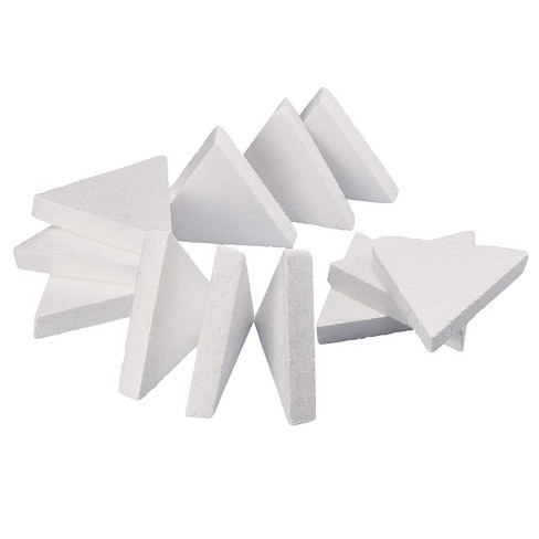 12 Pack Triangle Polystyrene Foam, Painting Activity for Kids, DIY Toy Puzzle, Arts & Crafts Supplies for School Project, 6 inches - image 1 of 2