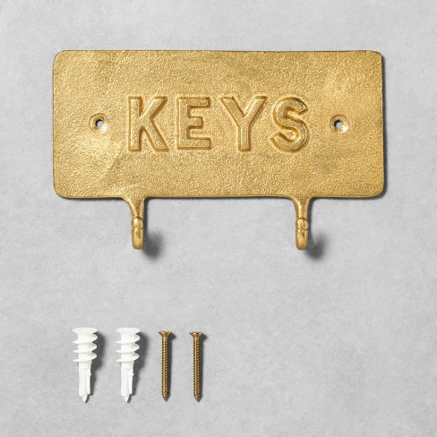 'Keys' Brass Hook Entryway Sign - Hearth & Hand™ with Magnolia - image 1 of 4