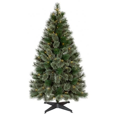 4.5ft Prelit Artificial Christmas Tree Slim Virginia Pine Clear ...