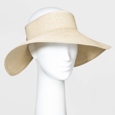 Women's Roll Up Visor Hats - A New Day™ Natural One Size