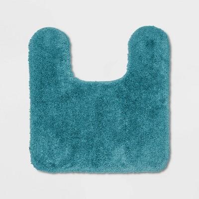 Performance Nylon Contour Bath Rug Turquoise - Threshold™