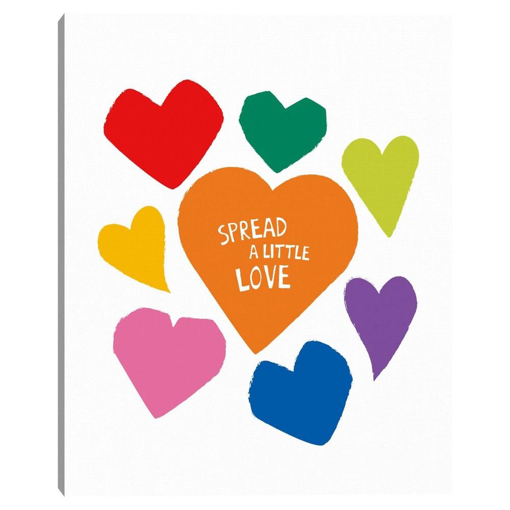 Spread A Little Love By Clara Wells Wrapped Unframed Canvas Art Print Masterpiece Art Gallery