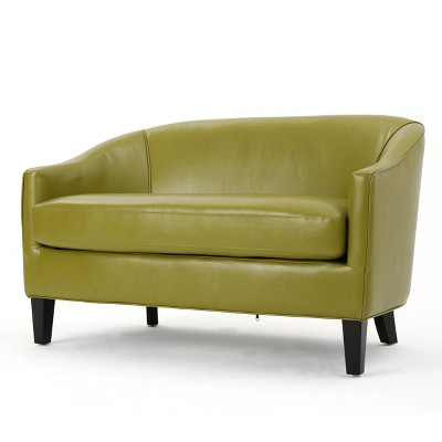 Justine Faux Leather Loveseat - Christopher Knight Home