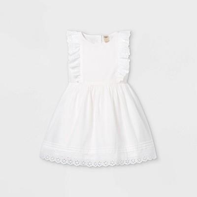 OshKosh B'gosh Toddler Girls' Eyelet Tank Dress - White