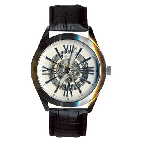 Croton Men's Brass Wristwatch - Silver - image 1 of 1