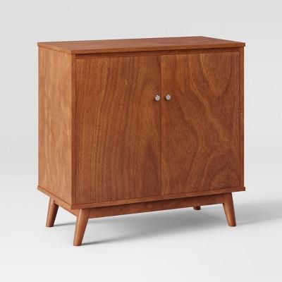 31 amherst mid century modern storage cabinet brown project 62 rh target com mid century modern cabinetry mid century modern cabinet pulls