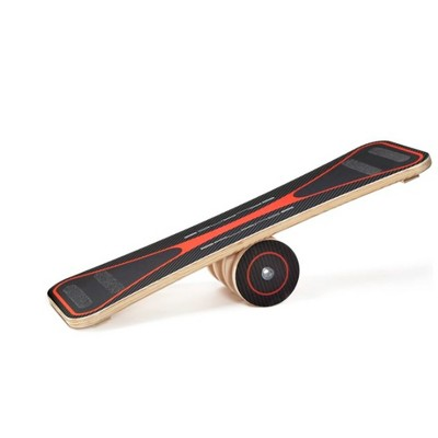 Carrom 300 Pound Capacity Exercise Balance Board with Anti Skid Strips, Red