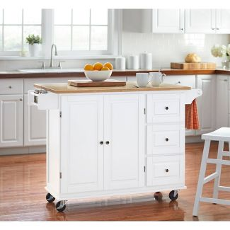 Aspen Kitchen Cart - White