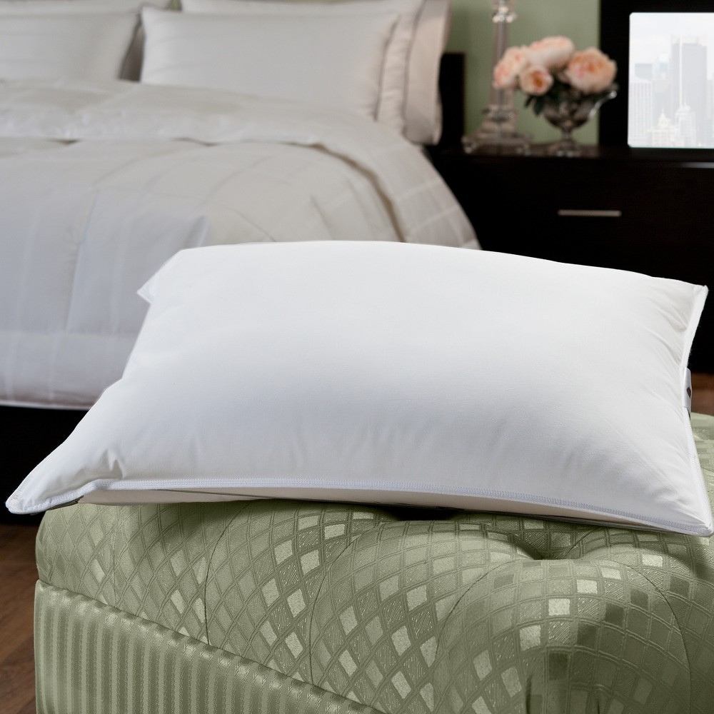 Image of 50/50 White Goose Feather Blend Hotel Pillow King - Downlite