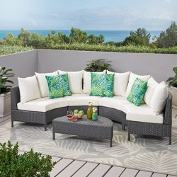 Newton 5pc Wicker Sofa Set - Christopher Knight Home