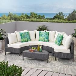 Newton 5pc Wicker Sofa Set - Christopher Knight Home