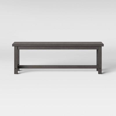 Colesbille Farmhouse Dining Bench Dark Gray - Threshold™