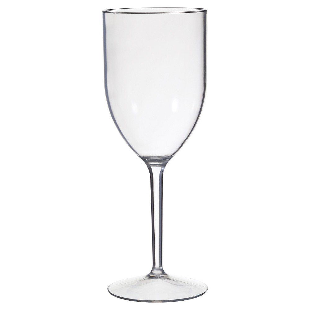 Image of CreativeWare Set of 8 Wine Glasses 12oz Acrylic, Clear