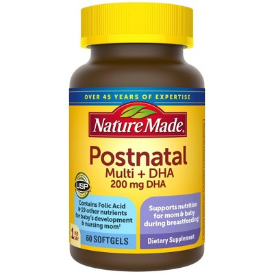 Nature Made Postnatal + DHA Softgels - 60ct