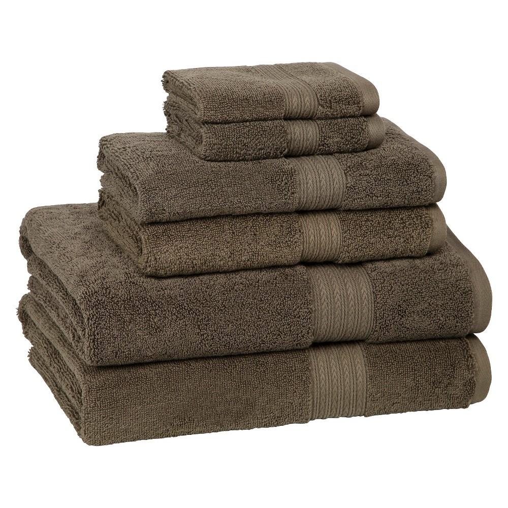 6pc Signature Solid Bath Towel Set Brown - Cassadecor Buy