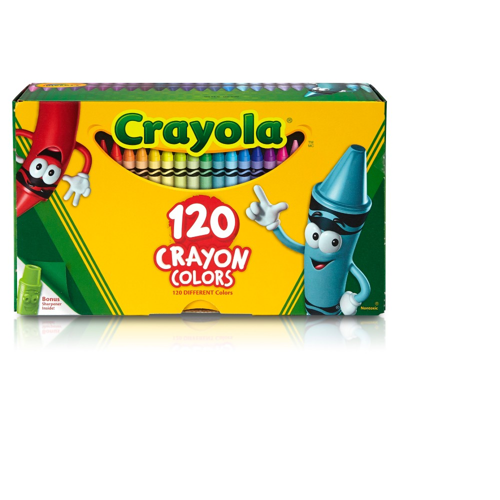 Image of Crayola 120ct Crayon Set with Crayon Sharpener