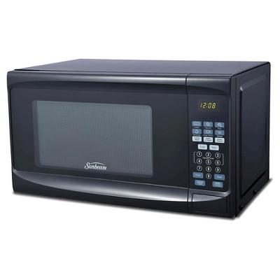 sunbeam 0 7 cu ft digital microwave oven black target rh target com