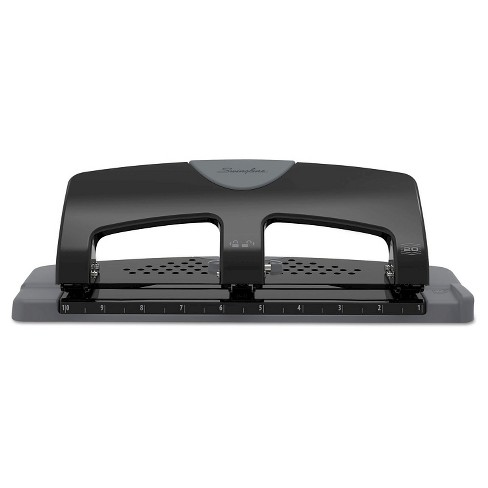 """Swingline® 9/32"""" Holes 20 Sheet SmartTouch Three-Hole Punch - Black/Gray - image 1 of 4"""