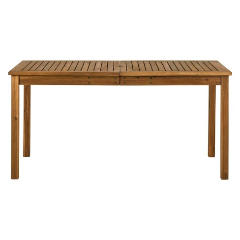 Acacia Wood Patio Simple Dining Table - Saracina Home - image 1 of 4