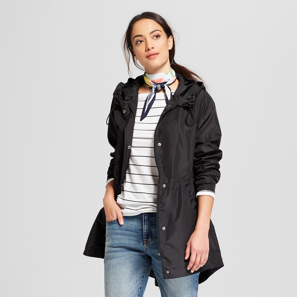 Women's Anorak Jacket - A New Day Black L