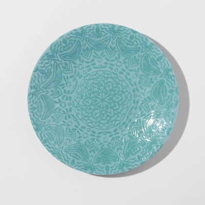 "8.5"" Melamine Embossed Salad Plate Blue - Opalhouse™"