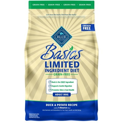 Blue Buffalo Basics Limited Ingredient Diet Grain Free Duck & Potato Recipe Adult Dry Dog Food