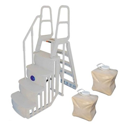 Main Access 200100T Above Ground Pool Step and Ladder System + 2 Sand Weights