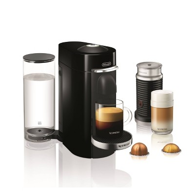 Nespresso Vertuo Plus Deluxe Espresso and Coffee maker Bundle - Black