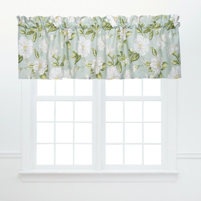 C&F Home Magnolia Garden Green and White Window Valance
