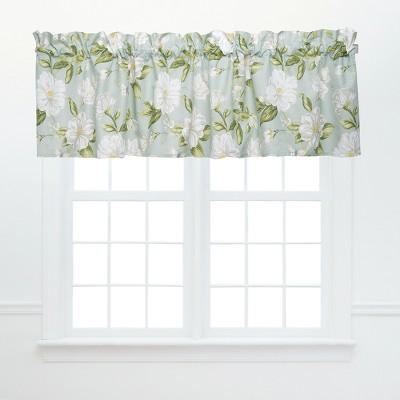 C&F Home Colonial Williamsburg Magnolia Garden Green and White Window Valance